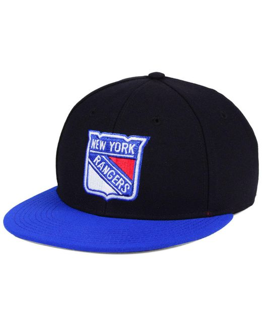 b4a2d6f8 ... norway adidas black new york rangers basic fitted cap for men lyst  d0718 1d5d8