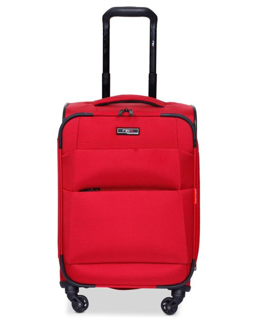 "Revo | Red Airborne 20"" Softside Spinner Suitcase 