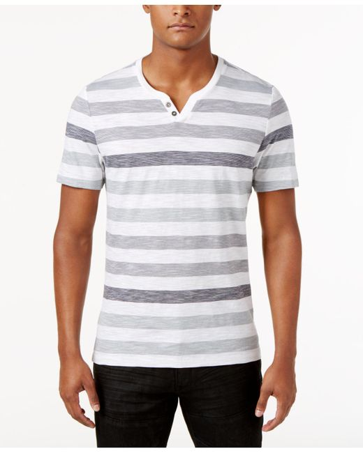 INC International Concepts - White Heathered Striped T-shirt, Created For Macy's for Men - Lyst