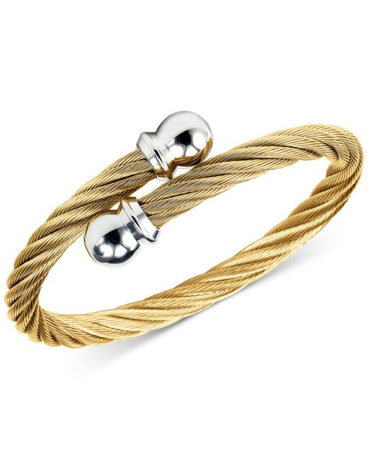 Charriol - Metallic Unisex Celtic Twisted Cable Bracelet In Gold-plated Stainless Steel - Lyst