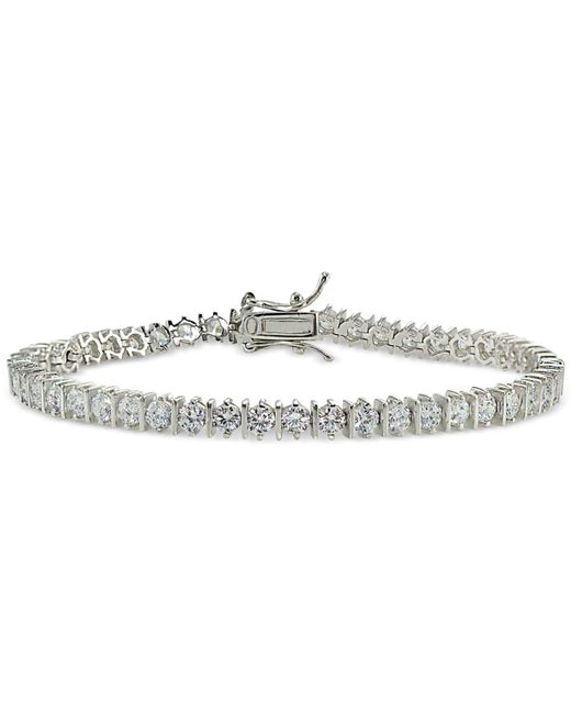 Giani Bernini - Metallic Cubic Zirconia Tennis Bracelet In 18k Rose Gold-plated Sterling Silver - Lyst