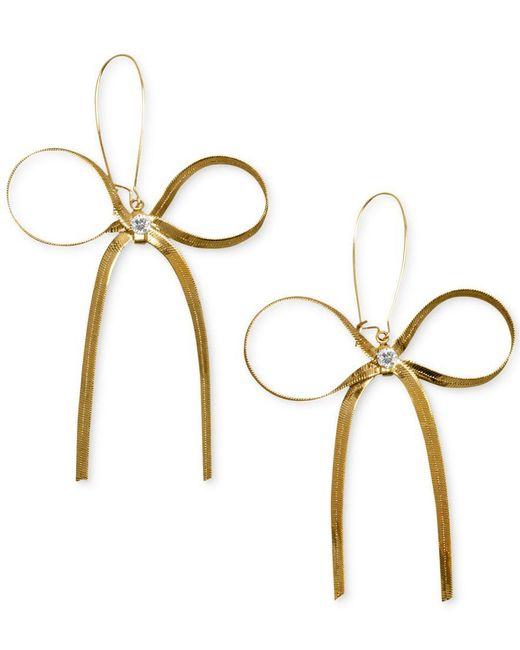 Betsey Johnson   Metallic Gold-tone Bow Earrings   Lyst