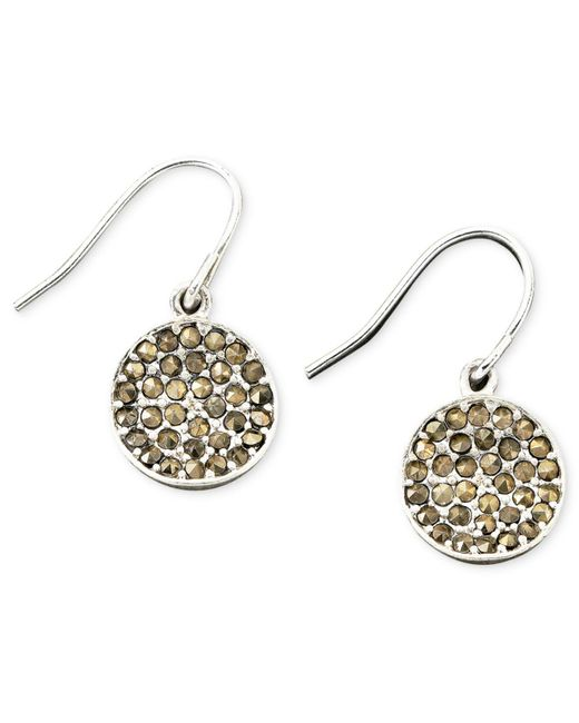 Kenneth Cole | Gray Earrings, Marcasite Accent | Lyst