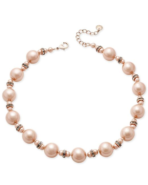 Charter Club | Metallic Imitation Pearl Necklace | Lyst