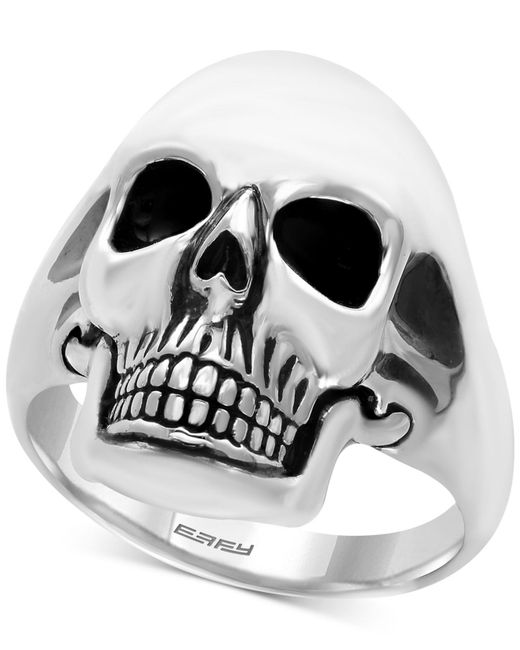Effy Collection - Metallic Men's Skull Ring In Sterling Silver And Black Rhodium-plate for Men - Lyst