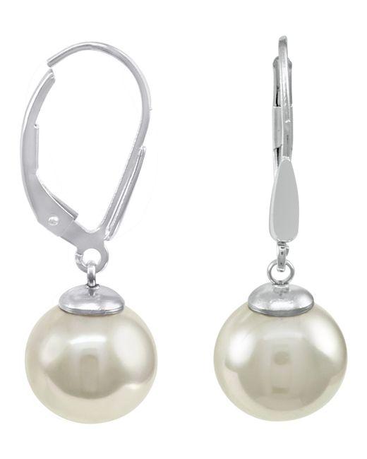 Majorica | Metallic Sterling Silver Earrings, Imitation Pearl | Lyst