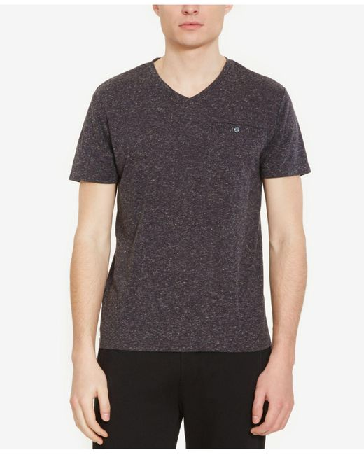 Kenneth Cole Reaction | Gray Men's Heathered V-neck T-shirt for Men | Lyst