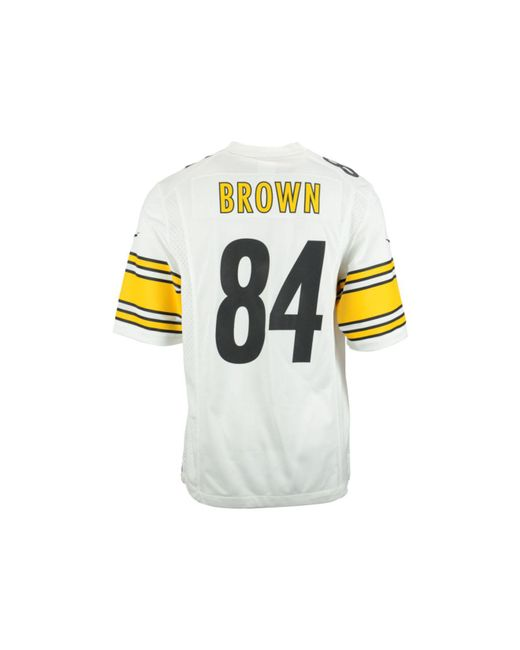timeless design 23199 3bfa3 get nike pittsburgh steelers 84 antonio brown white game ...