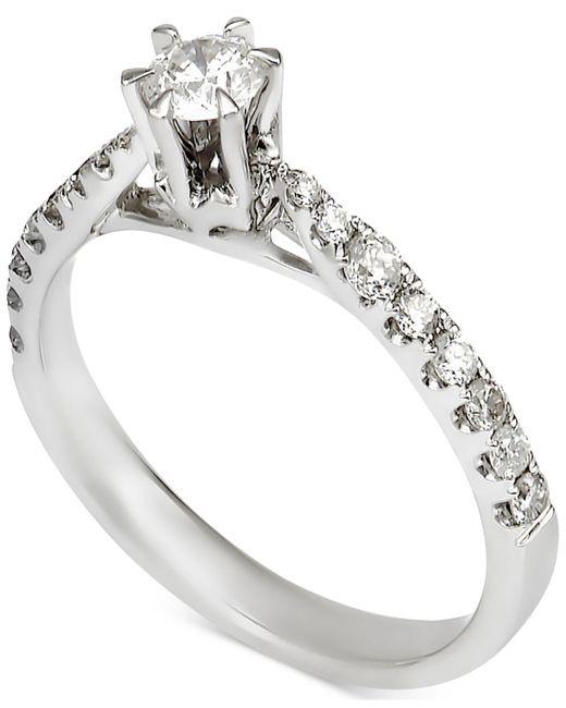 Macy's | Metallic Diamond Engagement Ring (7/8 Ct. T.w.) In 14k White Gold | Lyst
