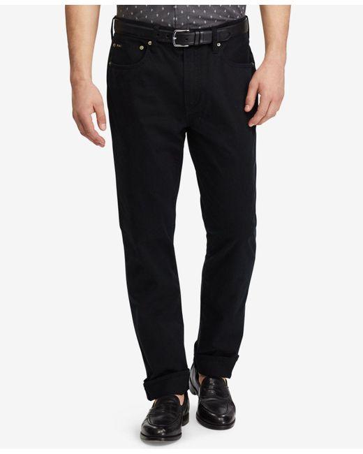 Polo Ralph Lauren - Black Men's Varick Slim-straight Pants for Men - Lyst