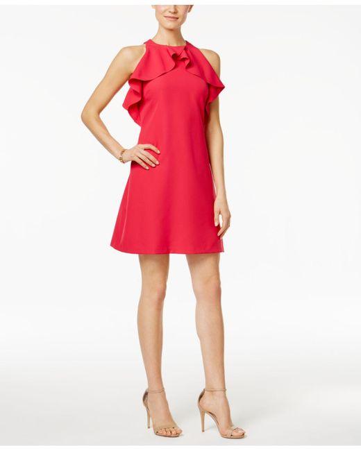 Jessica Simpson   Red Ruffled Shift Dress   Lyst