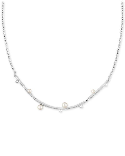 Majorica | Metallic Sterling Silver Imitation Pearl Necklace | Lyst