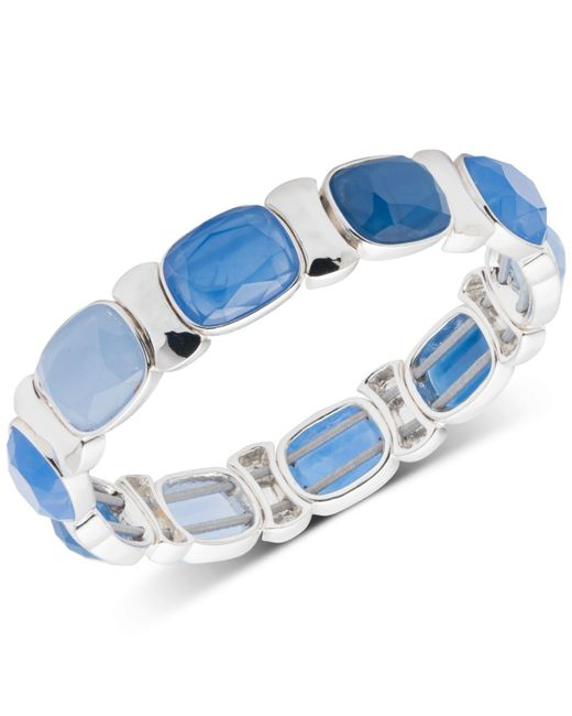 Nine West - Blue Multi-stone Stretch Bracelet - Lyst