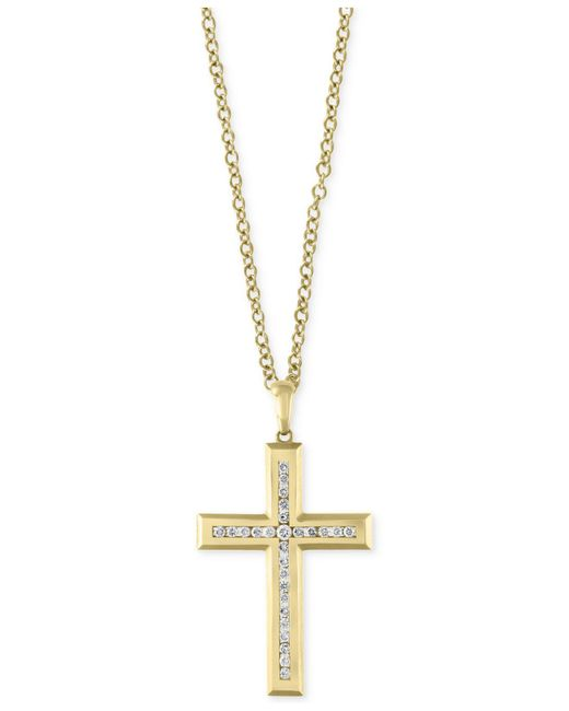 Effy Collection - Metallic Men's Diamond Cross Pendant Necklace (1 Ct. T.w.) In 14k Gold - Lyst