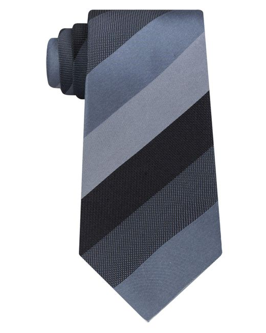 Kenneth Cole Reaction | Black Men's Jupiter Stripe Silk Tie for Men | Lyst