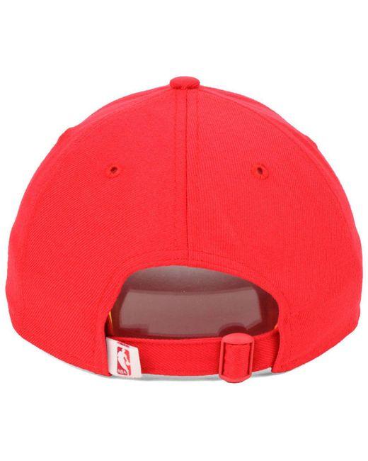 huge discount 072f4 fb3b2 ... KTZ - Red Utah Jazz City Series 9twenty Strapback Cap for Men - Lyst ...