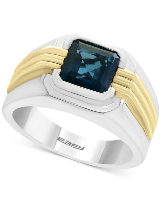 Effy Collection   Metallic Men's London Blue Topaz Two-tone Ring (2-3/4 Ct. T.w.) In Sterling Silver And 14k Gold for Men   Lyst
