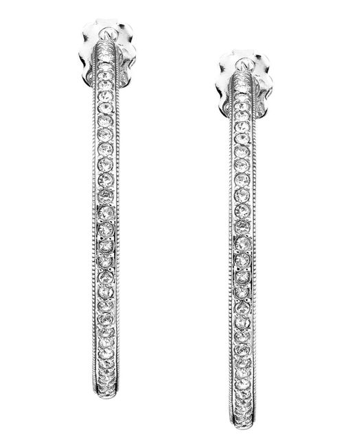 Danori | Metallic Earrings, Rhodium-plated Silver-tone Mixed Metal Hoop | Lyst