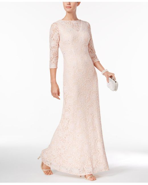 Alex Evenings | Pink Lace A-line Gown | Lyst
