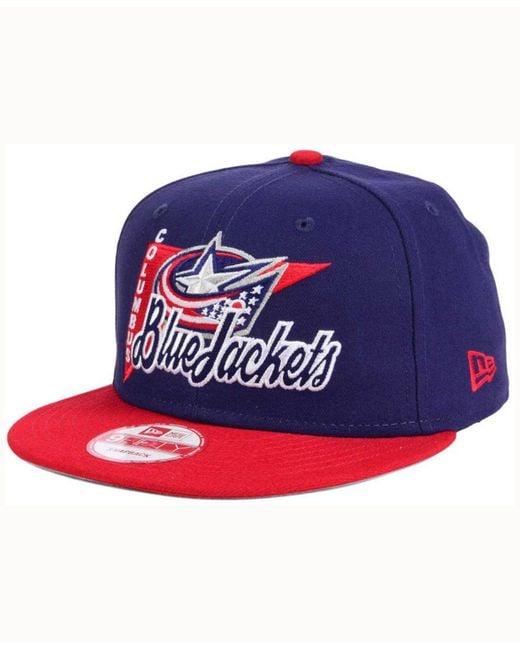 Lyst Ktz Columbus Blue Jackets Logo Stacker 9fifty Snapback Cap In