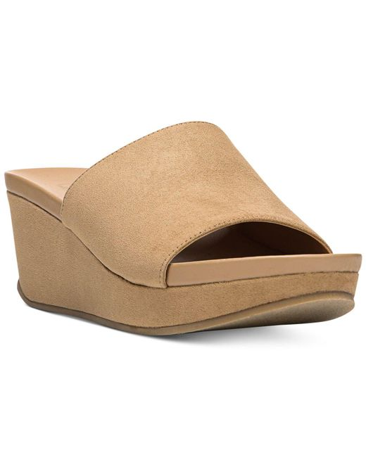 Carlos By Carlos Santana - Natural Delphina Wedge Slide Sandals - Lyst