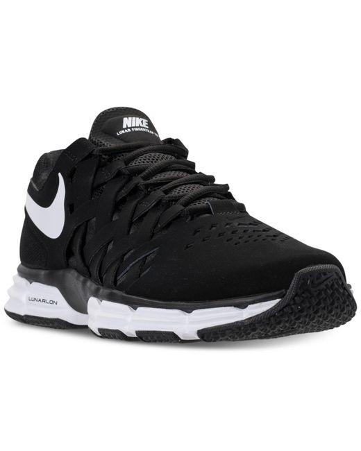 Nike | Black Men's Lunar Fingertrap Tr Wide 4e Training Sneakers From Finish Line for Men | Lyst