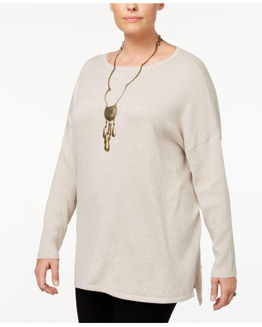 Style & Co. | Multicolor Plus Size Seamed Boat-neck Sweater | Lyst