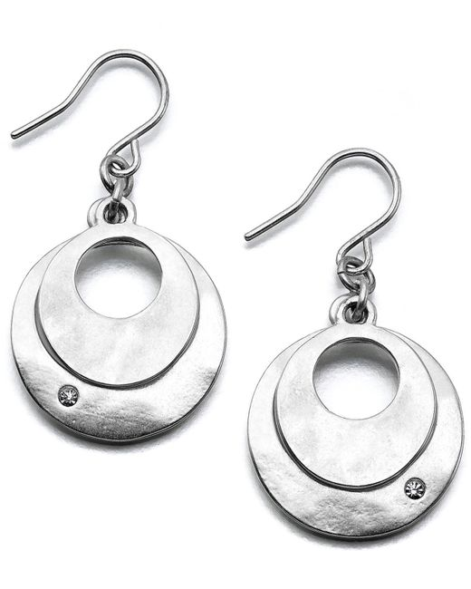 Kenneth Cole | Metallic Earrings, Dual Circle | Lyst
