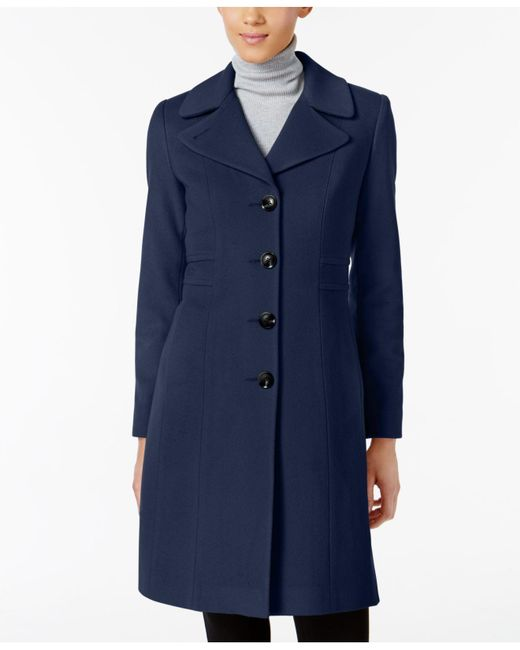 Anne Klein | Blue Wool-blend Walker Coat | Lyst
