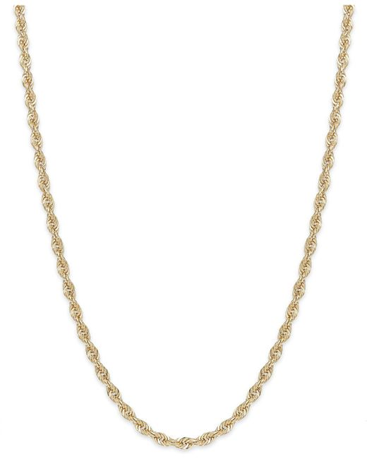 Macy's - Metallic Rope Chain Necklace In 14k Gold (1-3/4mm) - Lyst