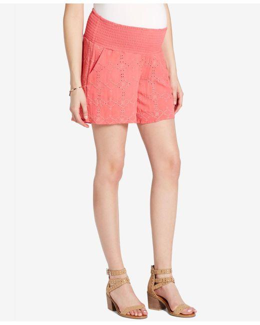 Jessica Simpson | Pink Maternity Smocked Shorts | Lyst