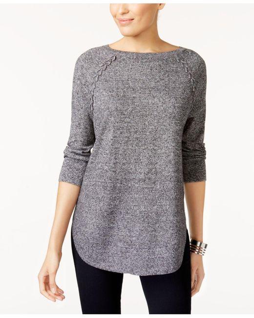 Style & Co.   Multicolor Laced-seam Tunic Sweater   Lyst