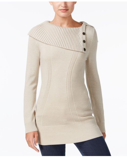 Style & Co. | Multicolor Envelope-neck Sweater, Created For Macy's | Lyst