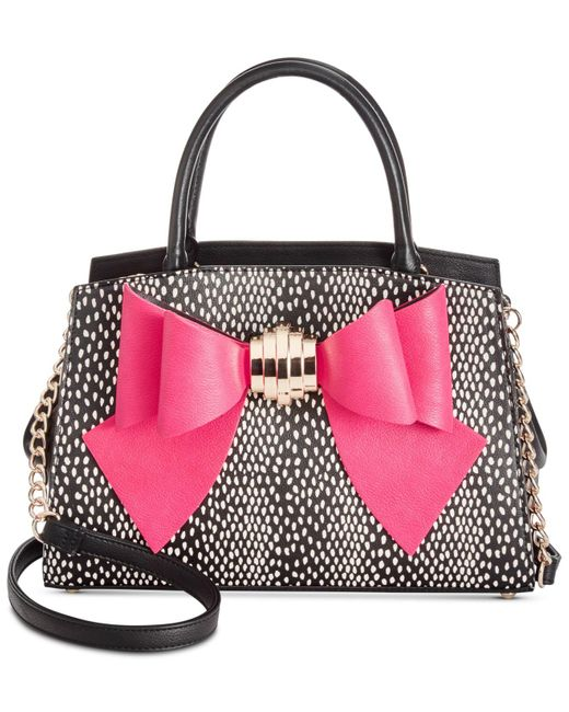 Betsey Johnson | Multicolor Removable Bow Medium Satchel | Lyst