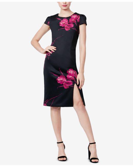 Lyst Betsey Johnson Floral Print Sheath Dress In Black Save 109375