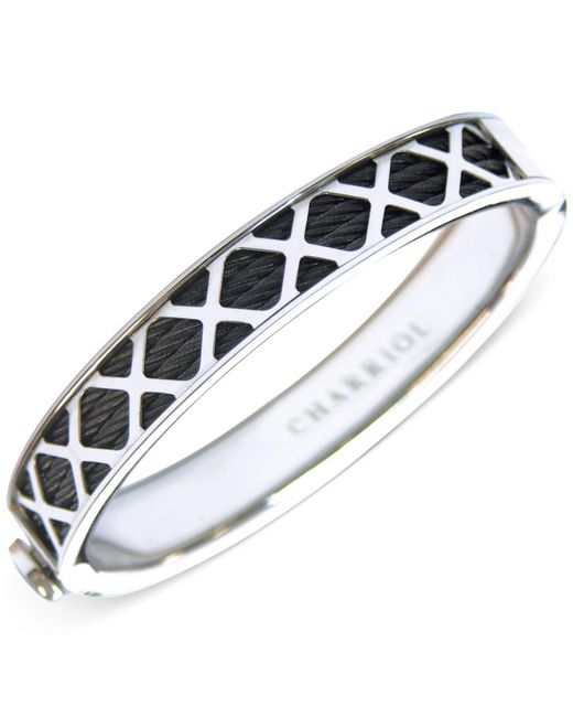Charriol | Womens Black And Silver-tone Multi-x Cable Bangle Bracelet | Lyst