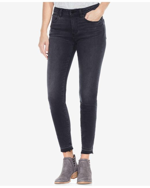 Vince Camuto Blue Released-hem Skinny Jeans