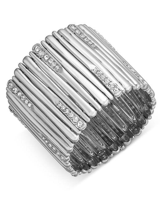 INC International Concepts - Metallic Pavé Stick Stretch Bracelet - Lyst
