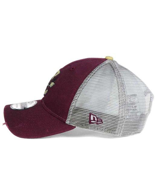 new product 3d5ec 2b528 denmark boston college eagles new era ncaa italian wash 9twenty cap 2d50d  477e4  low price ktz purple team rustic 9twenty cap for men lyst 80e51 c5688