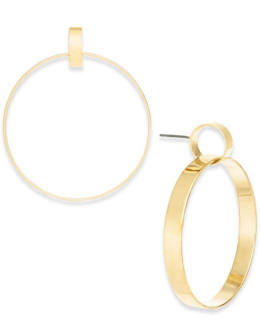 INC International Concepts - Metallic Gold-tone Linked Drop Hoop Earrings - Lyst
