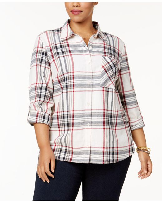 Style & Co. | Multicolor Plus Size Cabin Plaid Shirt | Lyst