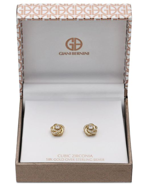 560609dbad1362 ... Giani Bernini - Metallic 2-pc. Set Cubic Zirconia Stud Earrings In 18k  Gold