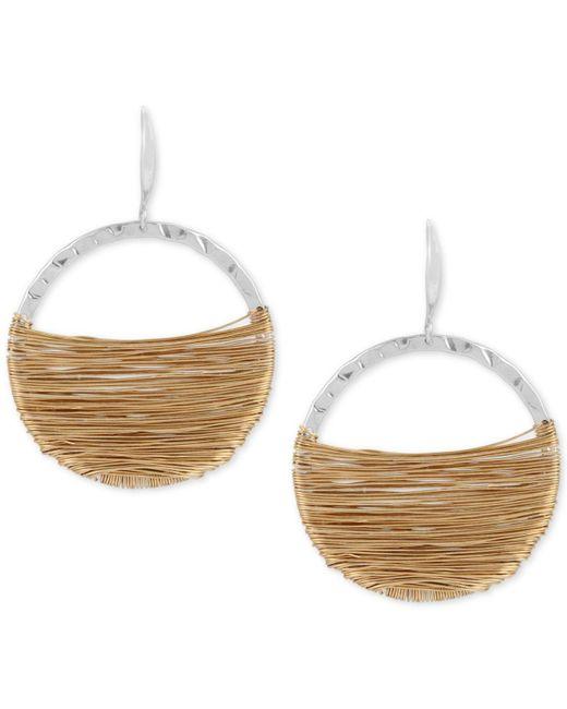 Robert Lee Morris - Multicolor Two-tone Wire-wrapped Gypsy Hoop Earrings - Lyst