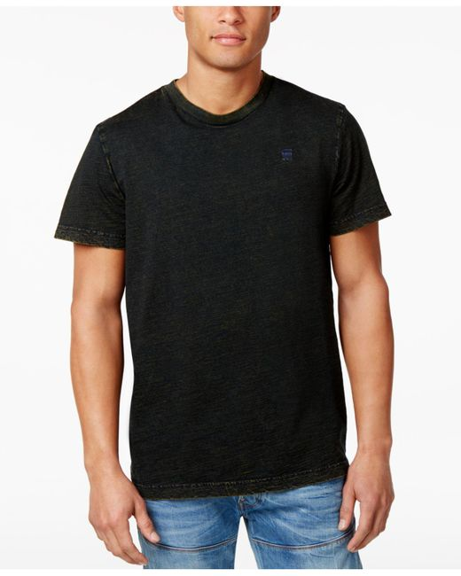 G-Star RAW | Black Men's Wynzar Acid-wash Cotton T-shirt for Men | Lyst