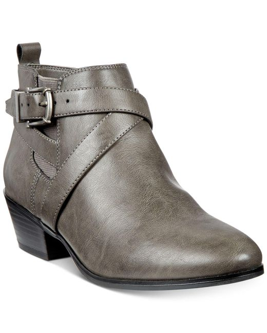 Style & Co.   Gray Harperr Strappy Booties   Lyst