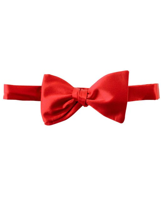 Michelsons Of London - Red Tie, To-tie Bowtie for Men - Lyst