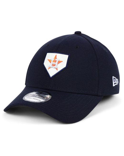 36d475dda66 KTZ - Blue Houston Astros The Plate 39thirty Cap for Men - Lyst ...