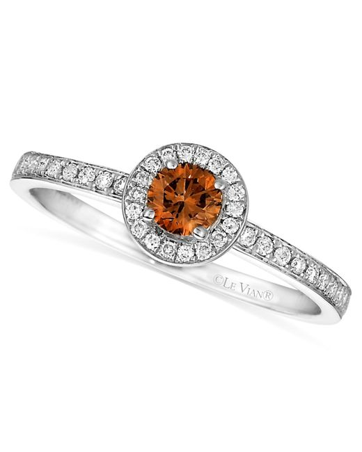 Le Vian | Brown Chocolate And White Diamond Circle (3/8 Ct. T.w.) In 14k White Gold | Lyst
