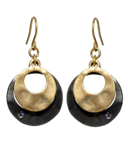 Kenneth Cole | Metallic Earrings, Round Orbit Drops | Lyst