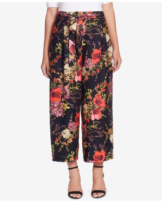 Catherine Malandrino | Multicolor Wide-leg Floral-print Pants | Lyst